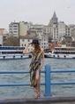Laslusa İçten Ayarlanabilir Hasır Panama Fötr Şapka Lacivert